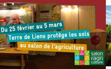 Terre de Liens protège les sols au salon de l'agriculture