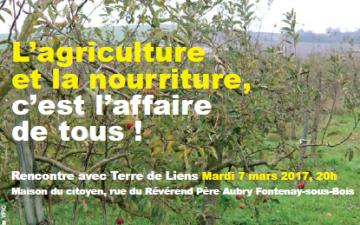 Rencontre à Fontenay-sous-Bois avec Terre de Liens