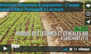 Victoires citoyennes et paysannes// Installation d'Alice, productrice de céréales et légumes bio en Seine-et-Marne